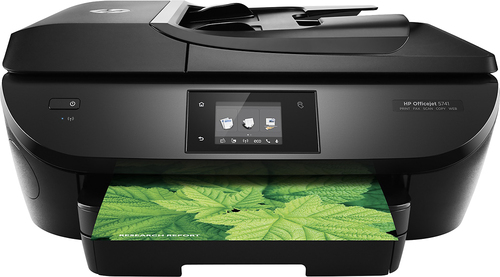 HP - OfficeJet 5741 Wireless All-In-One Printer - Black