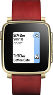 Pebble - Time Steel Smartwatch 32mm - Gold Leather