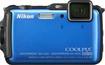 Nikon - Coolpix AW120 16.0-Megapixel Digital Camera - Blue