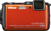 Nikon - Coolpix AW120 16.0-Megapixel Waterproof Digital Camera - Orange