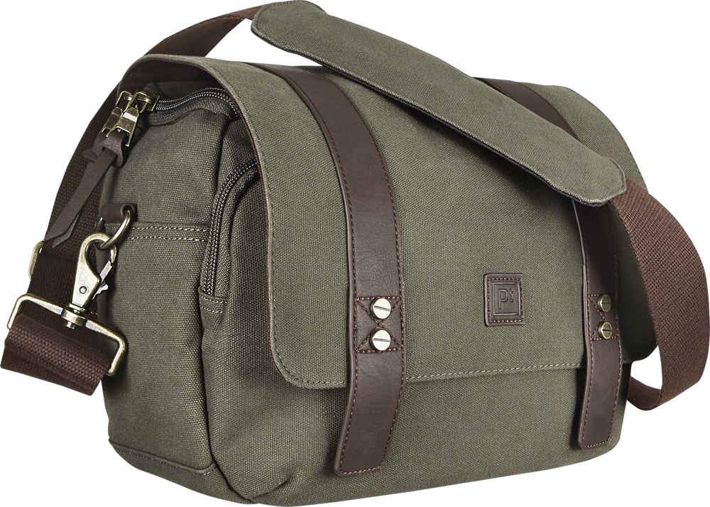 Platinum - Vintage Camera Messenger Bag - Dark Green/Dark Brown | eBay