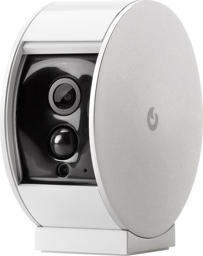 Myfox - Security Camera with Privacy Shutter - White/Silver