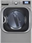 LG - SteamDryer 9.0 Cu. Ft. 14-Cycle Mega-Capacity Steam Gas Dryer - Graphite Steel