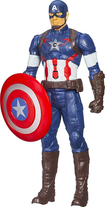"Hasbro - Marvel Avengers: Age Of Ultron Titan Hero Tech Captain America 12"" Action Figure - Multi 4544323"