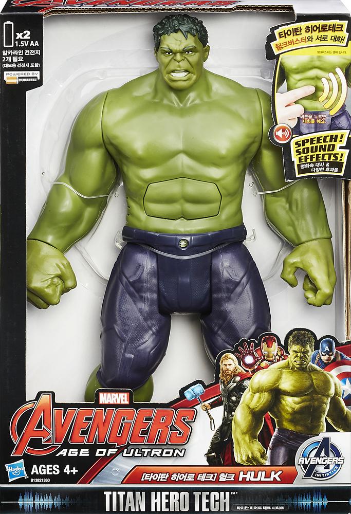 Hasbro - Marvel Avengers: Age Of Ultron Titan Hero Tech Hulk Action Figure - Green 4550704
