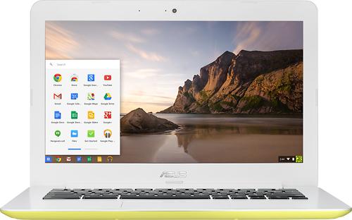 Asus - 13.3 Chromebook - Intel Celeron - 2GB Memory - 16GB eMMC Flash Memory - Yellow
