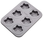 Cake Boss - Novelty 6-Cup Ghost Nonstick Cakelette Pan - Gray