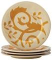 gold scroll appetizer plate set