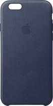 Apple - Iphone 6s Plus Leather Case - Midnight Blue