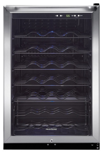 Frigidaire - 42-Bottle Wine Cooler - Stainless Steel (Silver)