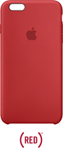 Apple - Iphone 6s Plus Silicone Case - (product) red