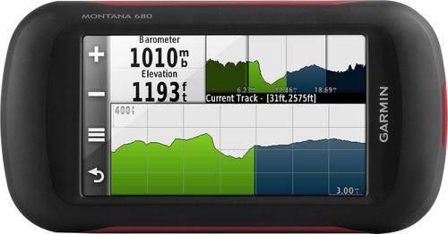 Garmin - Montana 680 4 Handheld GPS with Built-In Camera - Black/Orange