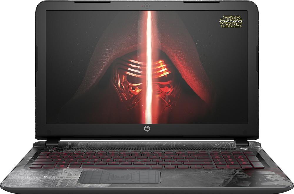 "HP Star Wars Special Edition 15.6"" Laptop Intel Core i7 8GB Memory 1TB Hard Drive Darkside Black 15-an051dx"