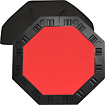 Trademark - 8-player Octagonal Poker Tabletop - Red 4564576