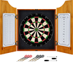 Trademark Games - Solid Wood Dart Cabinet Set - Brown