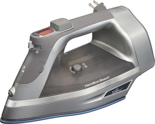Hamilton Beach - Durathon Digital Nonstick Iron - Silver/Gray