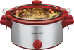 Hamilton Beach - ensemble Stay or Go 5-Quart Slow Cooker - Silver/Red