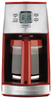 Hamilton Beach - Ensemble 12-Cup Coffeemaker - Red/Stainless-Steel