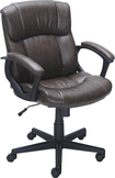 True Innovations - Puresoft Polyurethane Midback Manager's Chair - Brown