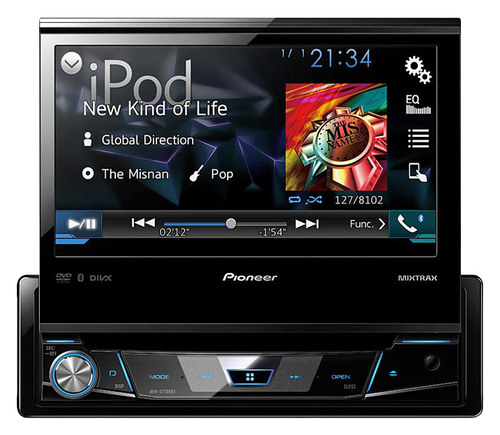 Pioneer - 7 - CD/DVD - Built-In Bluetooth - In-Dash Receiver with Nondetachable Faceplate - Black