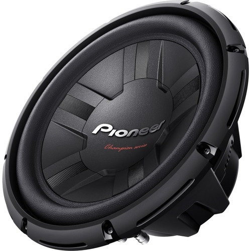 Pioneer - Champion Series 12 Dual-Voice-Coil 4-Ohm Subwoofer - Black