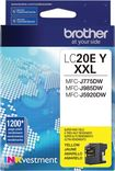 Brother - Lc20ey Xl High-yield Ink Cartridge - Yellow