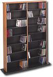PREPAC - Double-Width Library-Style Media Shelves - Oak