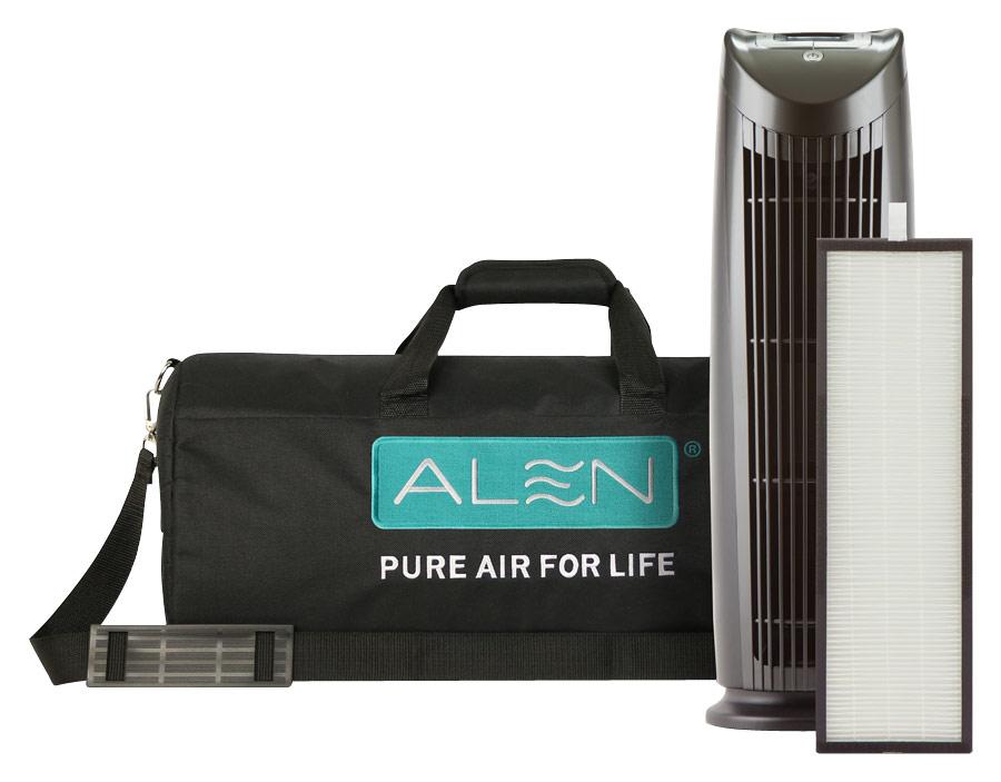 Alen - T500 Tower Air Purifier - Black/Silver