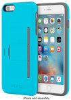 Incipio - Stowaway Advance Wallet Case For Apple Iphone 6 Plus And Iphone 6s Plus - Blue\/gray