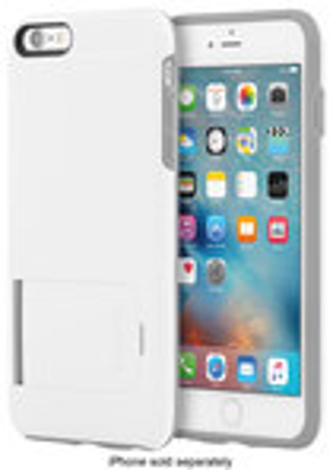 Incipio - Kicksnap Case For Apple Iphone 6 Plus And Iphone 6s Plus - White\/gray
