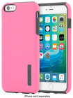 Incipio - Dualpro Case For Apple Iphone 6 Plus And Iphone 6s Plus - Highlighter Pink\/charcoal