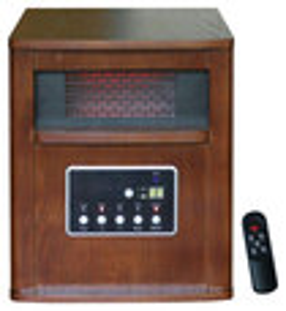 Global Air - Infrared Quartz Heater - Black