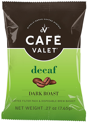 Café Valet - Decaf Coffee Packets (50-Pack) - Green/Black/White
