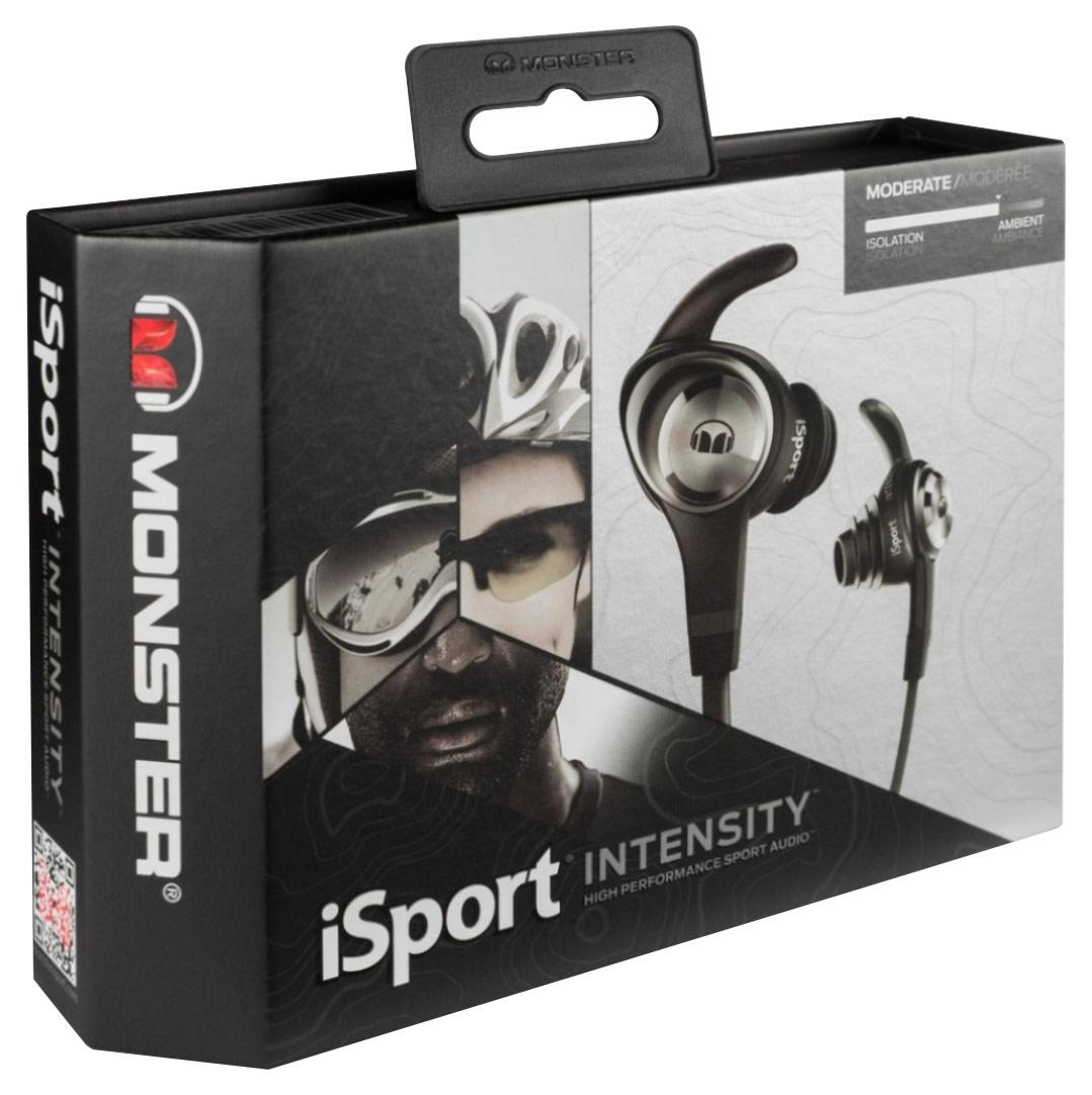 Monster - iSport Intensity Earbud Headphones - Black