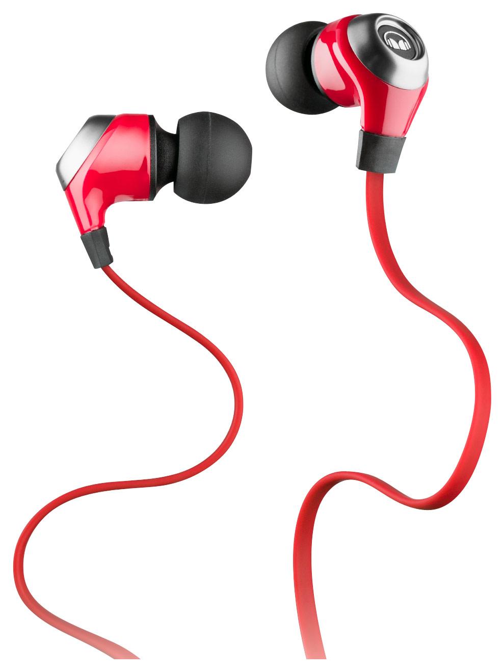 Monster - Nlite In-ear Exercise Headphones - Red thumbnail