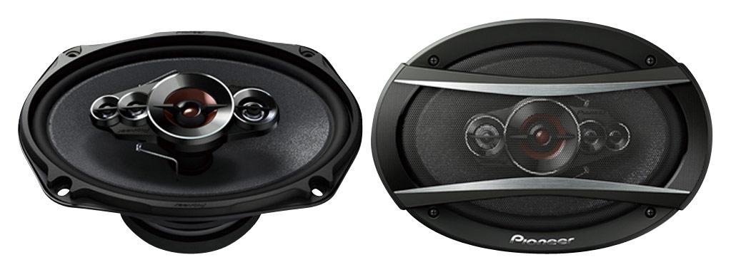 Pioneer - TS-A Series 6 x 9 5-Way Coaxial Speakers (Pair) - Black