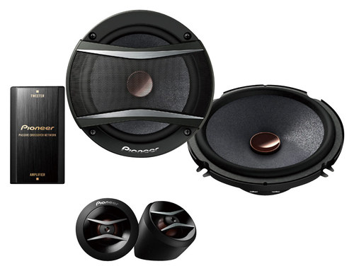 Pioneer - TS-A Series 6.5 2-Way Component Speakers - Black