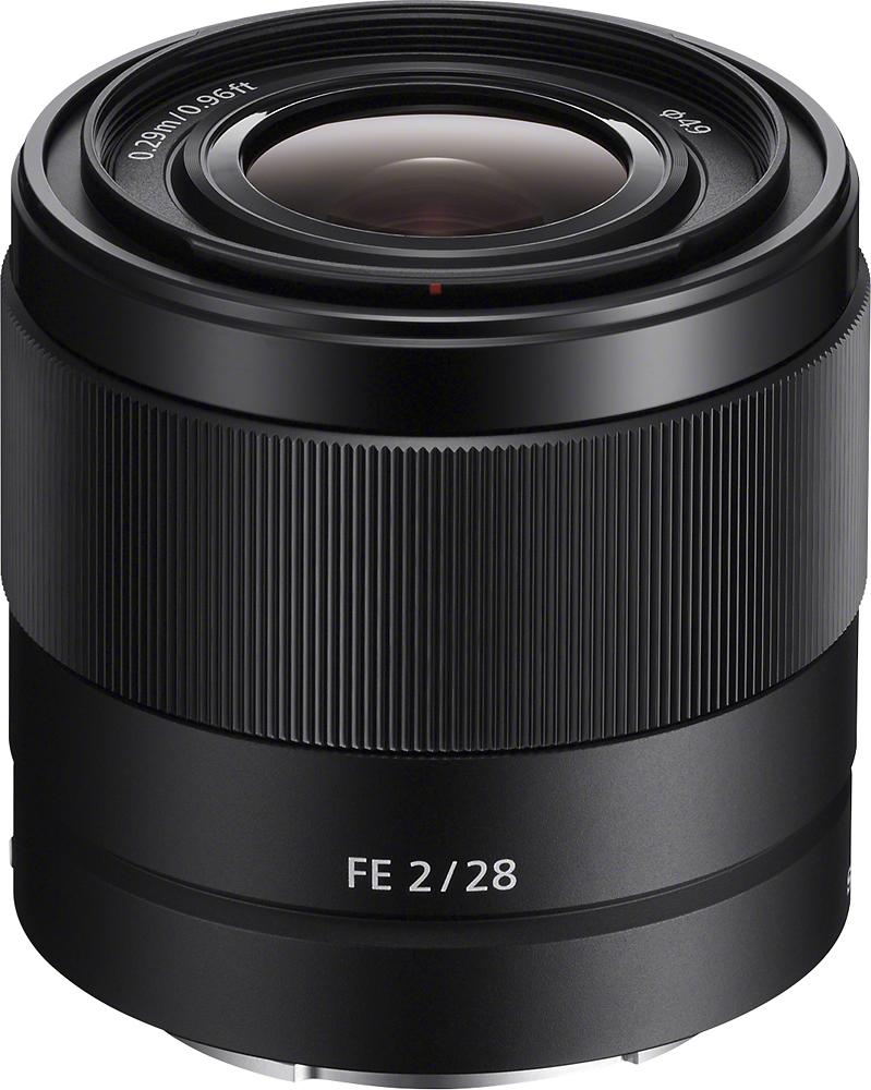 Sony - FE 28mm f/2 E-Mount Prime Lens - Black