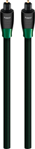 AudioQuest - OptiLink Forest 9.8' In-Wall Optical Cable - Black/Green