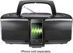 Insignia™ - CD Boombox with FM Radio and Apple® iPhone® and iPod® Dock - Black/Gray