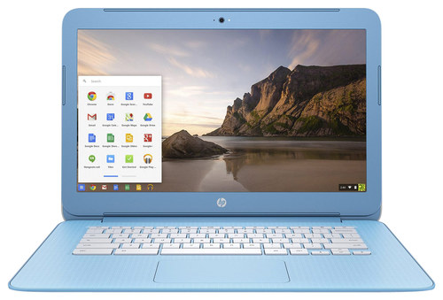 HP - 14 Chromebook - Intel Celeron - 2GB Memory - 16GB eMMC Flash Memory - Sky Blue