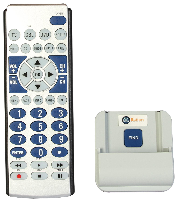 Big Button Universe - 3-Device Universal Remote - Black/Silver