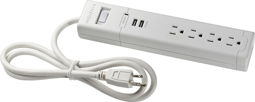 Insignia™ - 4-Outlet Surge Protector - White