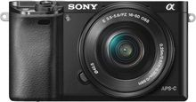 Sony - Alpha a6000 Mirrorless Camera with 16-50mm Retractable Lens - Black