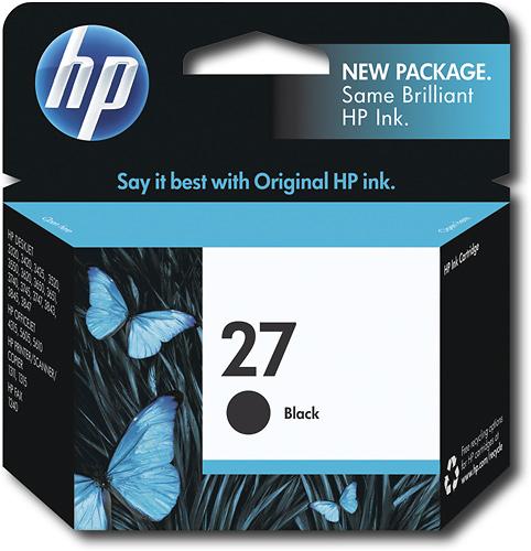HP - 27 Black Original Ink Cartridge - Black