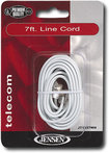 Jensen - 7' Line Cord - White