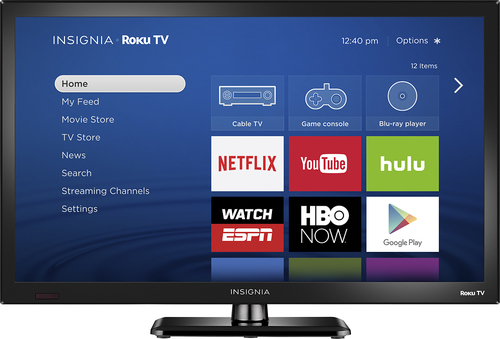 Insignia™ - 24 Class (23.6 Diag.) - LED -720p - Smart - Roku TV - Black