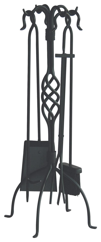 Uniflame - Fireplace Tool Set (5-piece) - Black 4674815