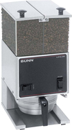 BUNN - Low-Profile 2-Hopper 6-Lb. Portion Control Coffee Grinder - Stainless-Steel