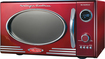Nostalgia Electrics - Retro Series 0.9 Cu. Ft. Compact Microwave - Red